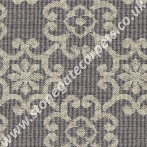 Axminster Carpets Royal Borough Decorative Chelsea Steel Mid Grey Carpet 1227/W0624