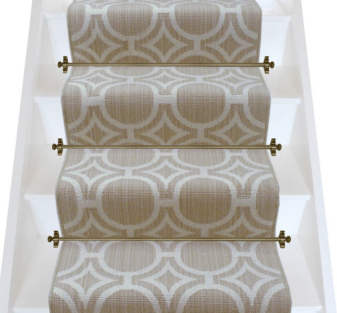 Axminster Carpets Royal Borough Geometric Kensington Egyptian Dark Cotton Stair Runner (per M)