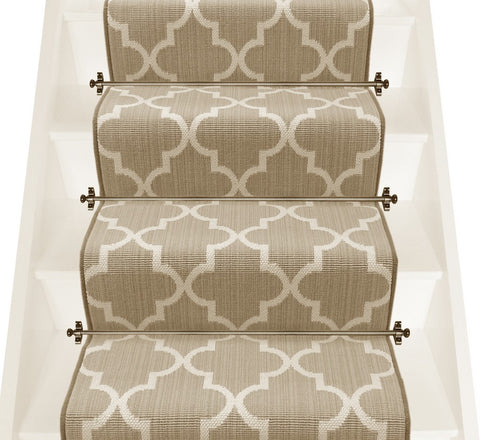 Axminster Carpets Royal Borough Trellis Windsor Egyptian Dark Cotton Stair Runner