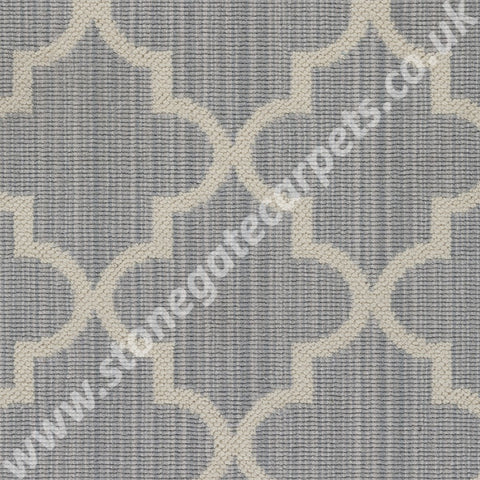 Axminster Carpets Royal Borough Trellis Windsor Itschner Light Grey Carpet 1220/W0623