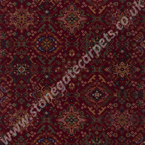 Axminster Carpets Royal Dartmouth Oriental Silk Carmine Carpet 009/80273