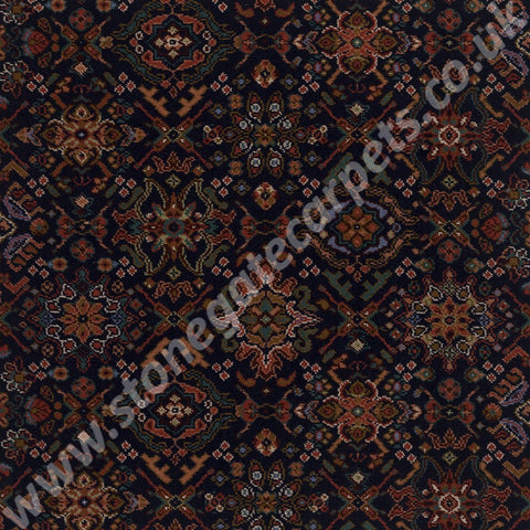 Axminster Carpets Royal Dartmouth Oriental Silk Midnight Blue Carpet 035/80273