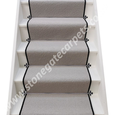 Axminster Carpets Simply Natural Grosgrain Quartz Stair Runner (per M) **SOLD OUT** RIBGRASS VERSION AVAILABLE