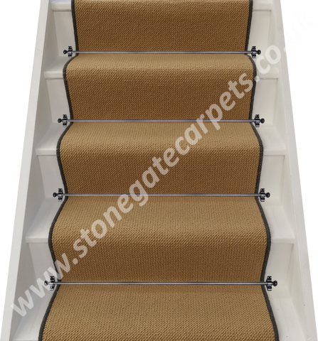 Axminster Carpets Simply Natural Grosgrain Straw Stair Runner (per M)