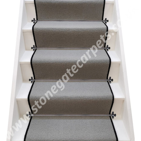 Axminster Carpets Simply Natural Ribgrass Basalt Stair Runner (per M)