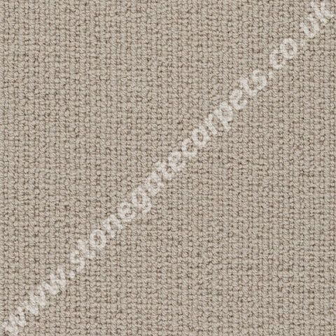 Axminster Carpets Simply Natural Ribgrass Single Colour Ash Carpet Remnant 4588