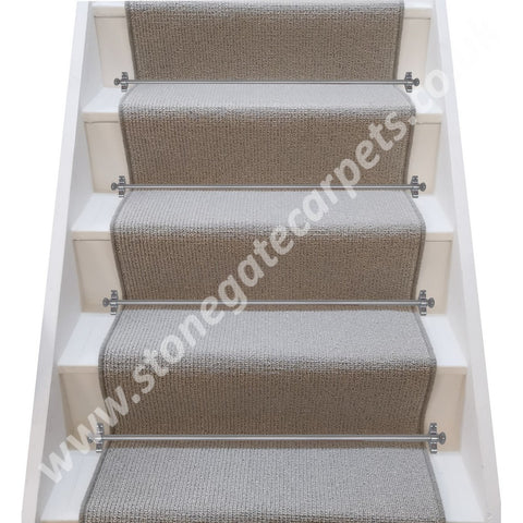 Axminster Carpets Simply Natural Ribgrass Stipple Quartz Eggshell Stair Runner (per M)