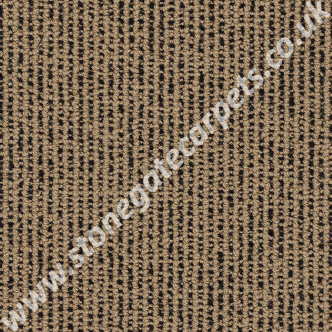 Axminster Carpets Simply Natural Ribgrass Stipple Straw Black Carpet Remnant 4532