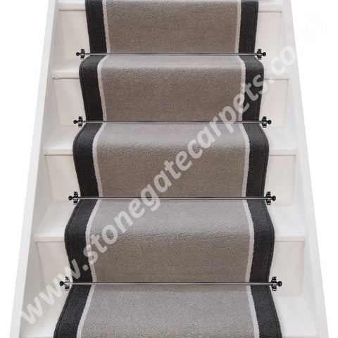Brintons Bell Twist Mist, Grange Wilton Sea-Salt & Bell Twist Smoke Stair Runner (per M) (MIST LOW STOCK)