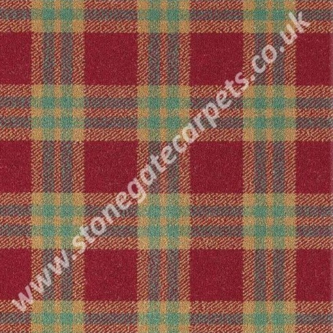 Brintons Carpets Abbotsford Ettrick Plaid Carpet Remnant
