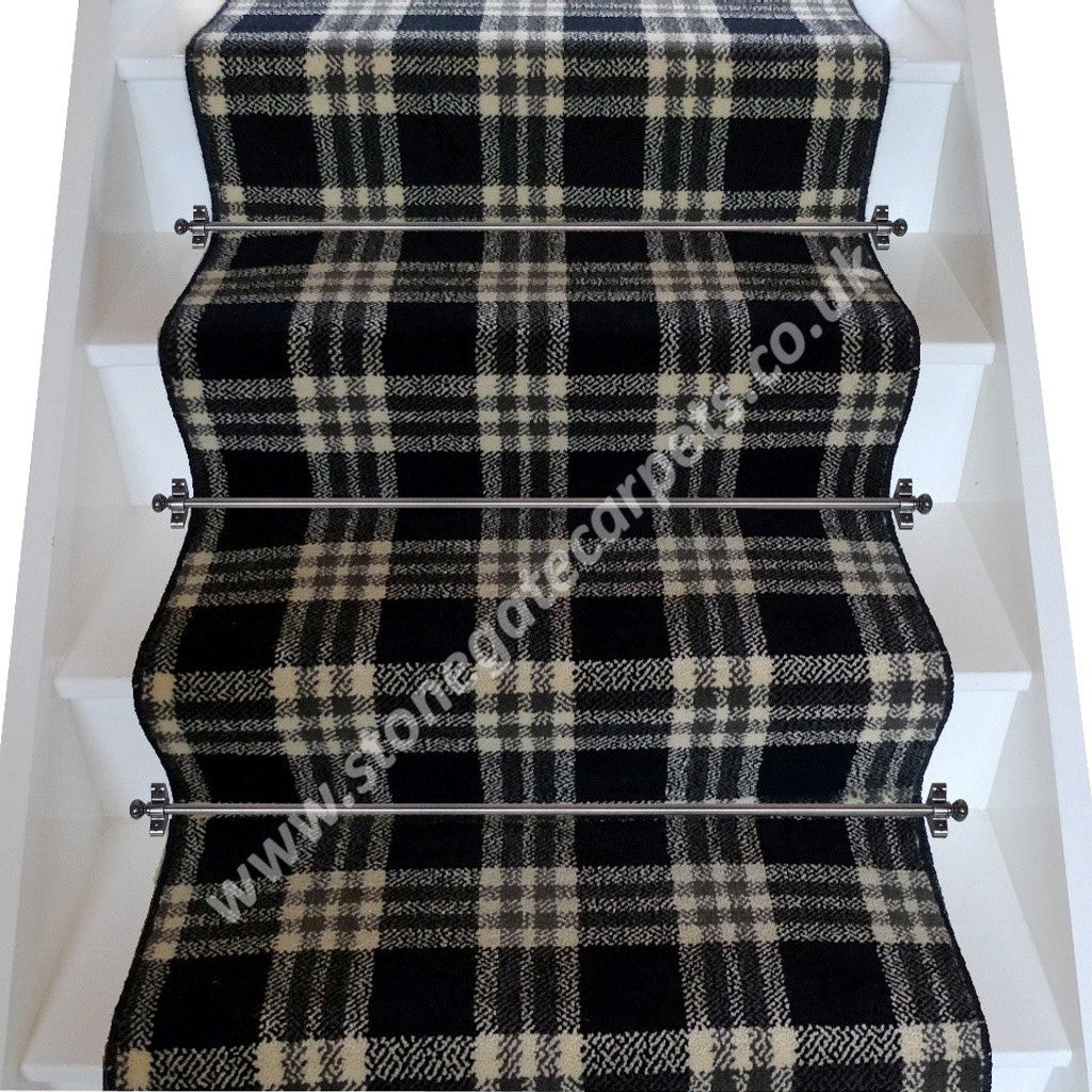 Brintons Carpets Abbotsford Border Plaid Broadloom Stair