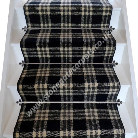 Brintons Carpets Abbotsford Border Plaid Broadloom Stair Runner (per M)