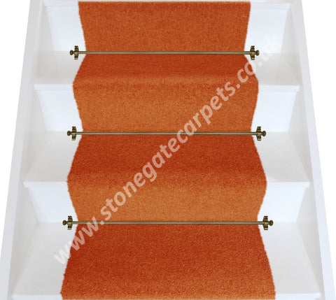 Brintons Carpets Bell Twist Fired Earth Plain Stair Runner (per M)