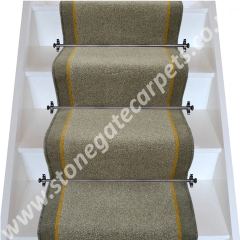 Brintons Carpets Bell Twist Granite Sepia Smoke Stair Runner (per M)