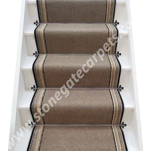 Brintons Carpets Bell Twist Hemp & Retro Cord Stair Runner (per M)