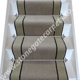 Brintons Carpets Bell Twist Italian Mocha Ebony Putty Stair Runner (per M)
