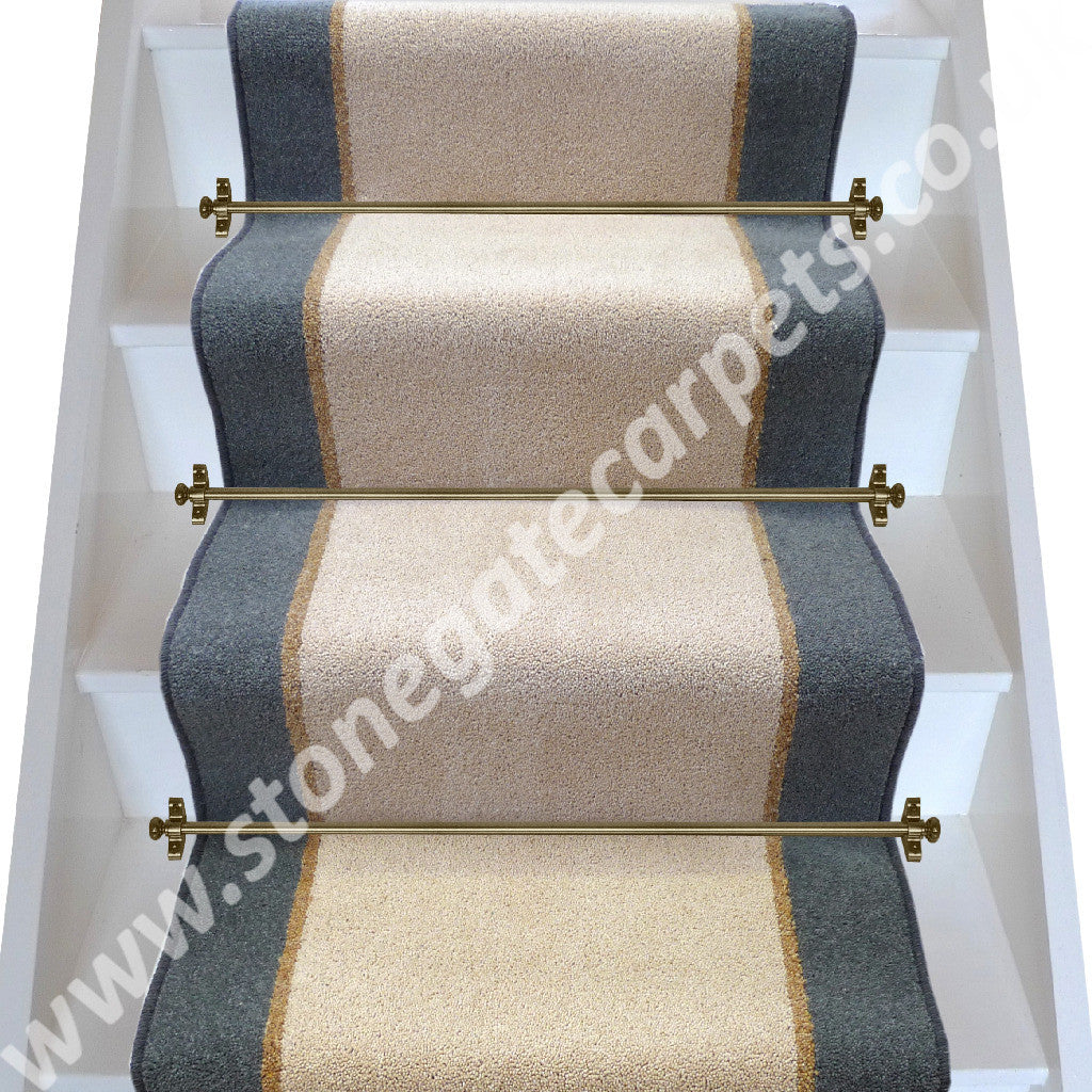 Brintons Carpets Bell Twist Moccasin Coffee Smoke Stair