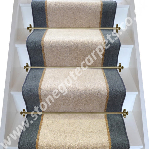 Brintons Carpets Bell Twist Moccasin Coffee Smoke Stair Runner (per M)