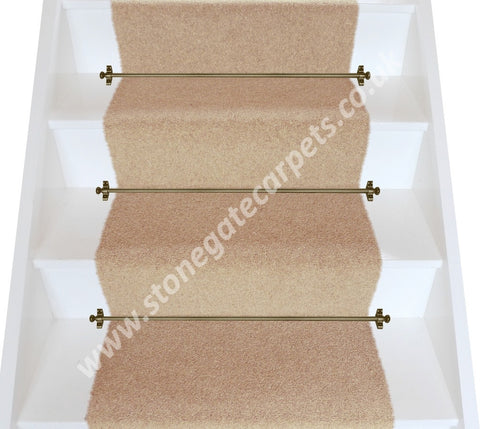 Brintons Carpets Bell Twist Moccasin Plain Stair Runner (per M)
