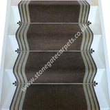 Brintons Carpets Bell Twist Mushroom Chocolate Bonbon Stair Runner (per M)