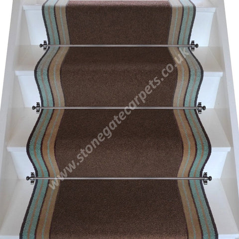 Brintons Carpets Bell Twist Mushroom Chocolate Fudge Stair Runner (per M)