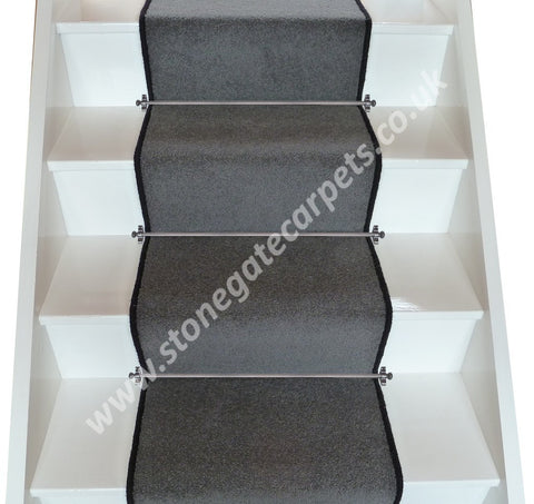 Brintons Carpets Bell Twist Smoke Plain Stair Runner (per M)