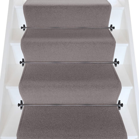 Brintons Carpets Bell Twist Pewter Plain Stair Runner (per M)