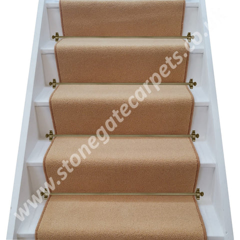 Brintons Carpets Bell Twist Sahara Sun Stair Runner - STAIRS, SMALL LANDING ONLY