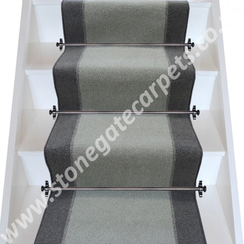 Brintons Carpets Bell Twist Silver Sage Granite Smoke Stair Runner (per M)