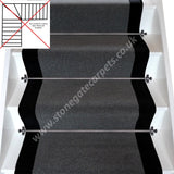 Brintons Carpets Bell Twist Smoke & Midnight Stair Runner (per M)