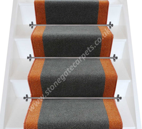 Brintons Carpets Bell Twist Smoke Fired Earth Stair Runner (per M)