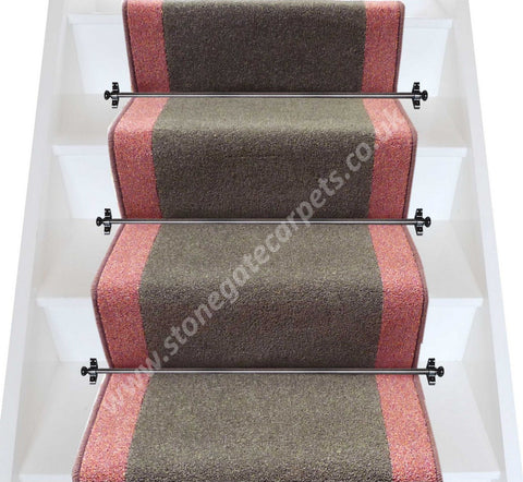 Brintons Carpets Bell Twist Smoke Heather Stair Runner (per M)