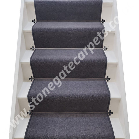 Brintons Carpets Bell Twist Twilight (MORE PURPLE THAN GREY) Stair Runner (per M)