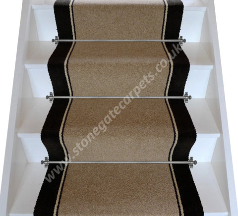 Brintons Carpets Bell Twist Whiskey Humbug Ebony Stair Runner (per M)