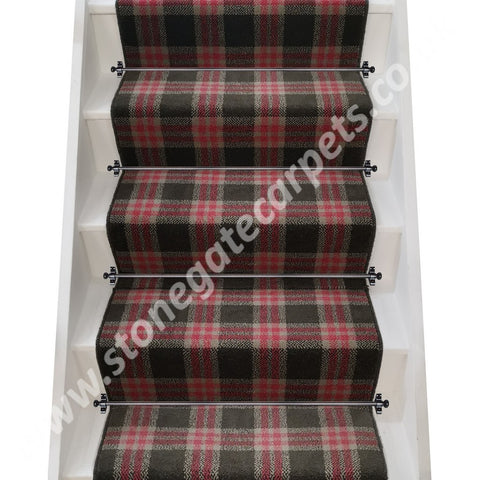 Brintons Carpets City Plaid Knightsbridge Broadloom Stair Runner (per M)
