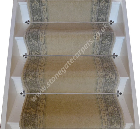 Brintons Carpets Classic Florals Parterre Champagne Stair Runner (per M)