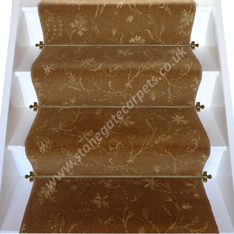 Brintons Carpets Classic Florals Parterre Copper Broadloom Stair Runner (per M)