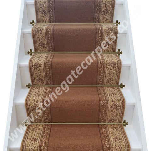 Brintons Carpets Classic Florals Parterre Copper Stair Runner (per M)