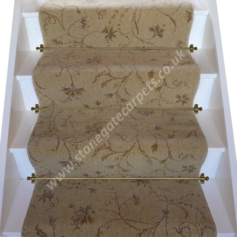 Brintons Carpets Classic Florals Parterre Honey Broadloom Stair Runner (per M)