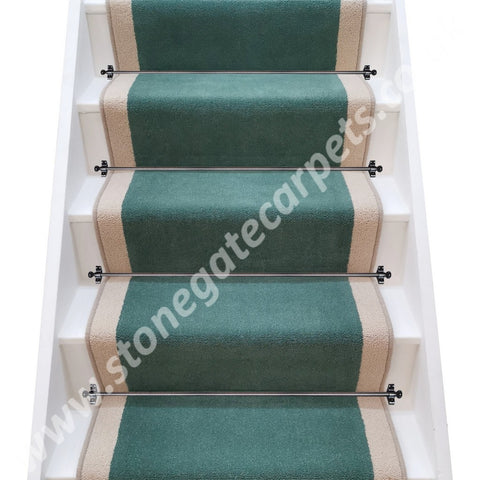 Brintons Carpets Finepoint Verona & Bell Twist York Stone Stair Runner (per M)