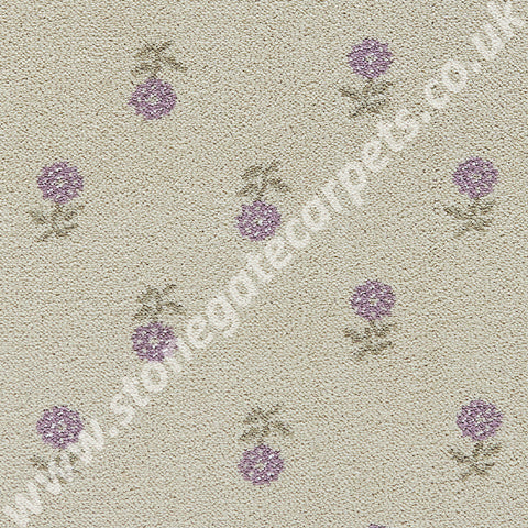 Brintons Carpets Laura Ashley Daisy Amethyst Carpet 9/50082