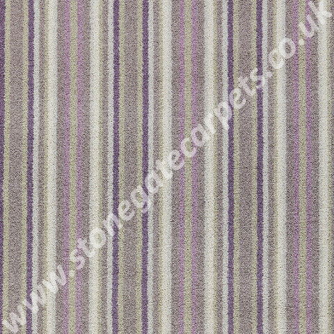 Brintons Carpets Laura Ashley Epsom Stripe Amethyst Carpet 19/50086