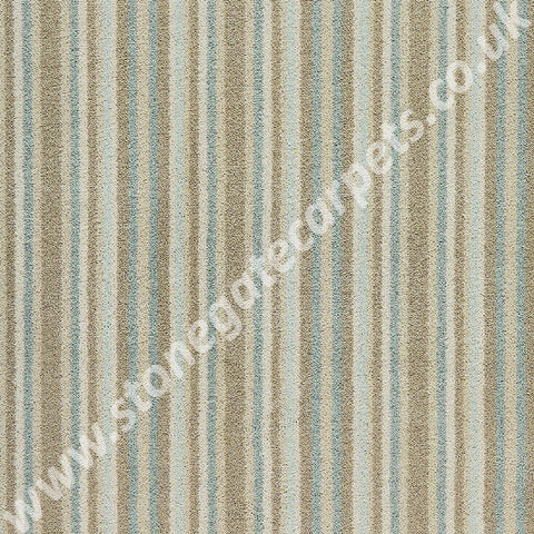 Brintons Carpets Laura Ashley Epsom Stripe Duck Egg Carpet 4/50081