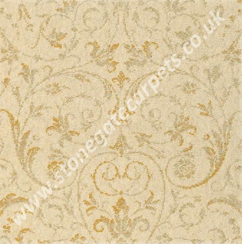Brintons Carpets Laura Ashley Malmaison Faded Gold (per M²)