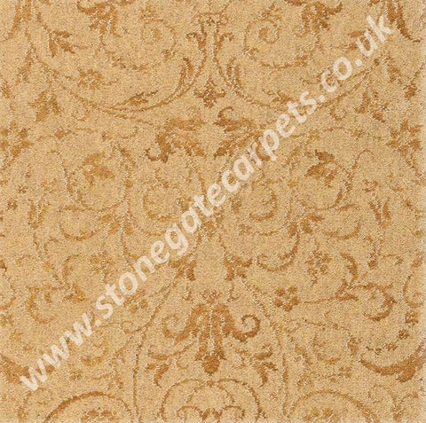 Brintons Carpets Laura Ashley Malmaison Old Gold Carpet Remnant