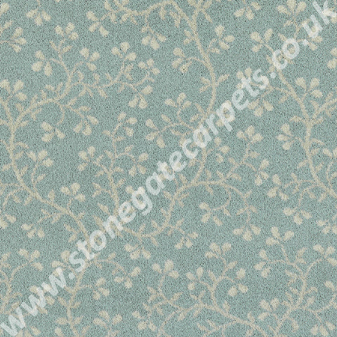 Brintons Carpets Laura Ashley Ryedale Duck Egg Carpet Remnant 14/50085