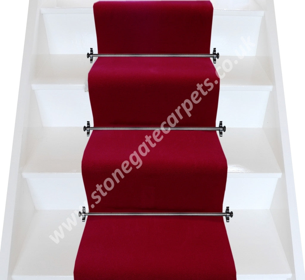 Brintons Carpets True Velvet Gallery Red Narrow Stair