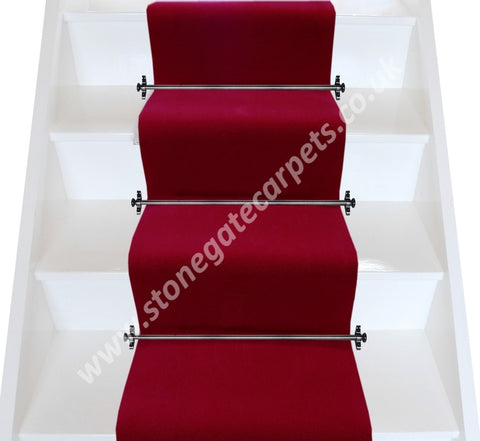Brintons Carpets Majestic Chilli Plain Stair Runner (per M)