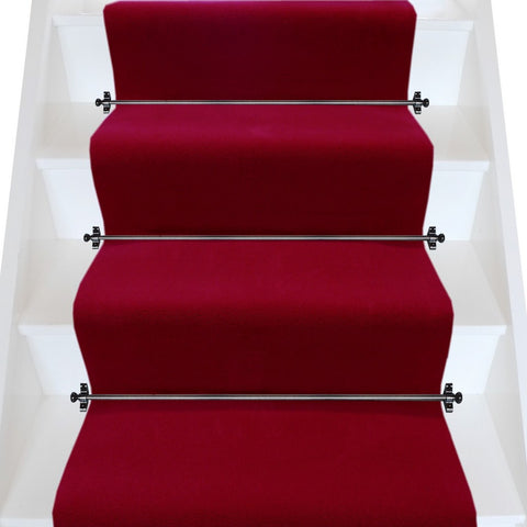 Brintons Carpets True Velvet Gallery Red Plain Stair Runner (per M)