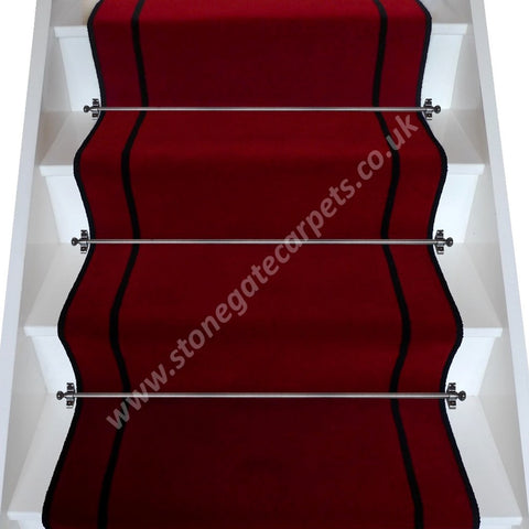Brintons Carpets Majestic Chilli True Velvet Jet Stair Runner (per M)